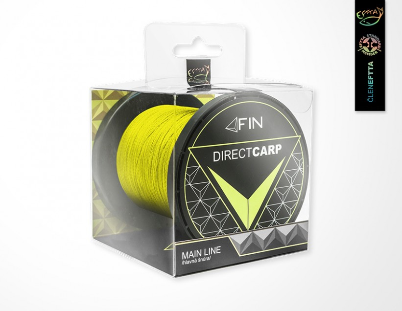 FIN Šňůra Direct Carp Main Line 0,26mm - žlutá 600m