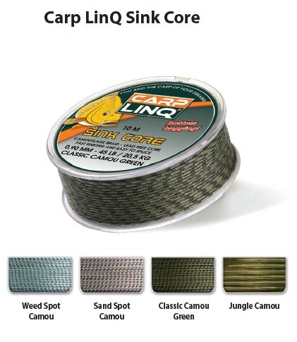 CARPLINQ Šňůra FLUORO CORE 20m/30lb - Camo Brown