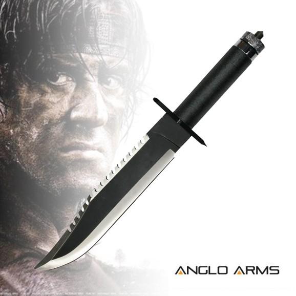 Anglo Arms Nůž Rambo 2 čern 253 Ngtfish Cz