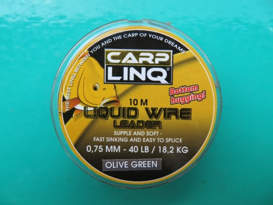 CARPLINQ Šňůra Liquid Wire 10m/40lb - Olive Green