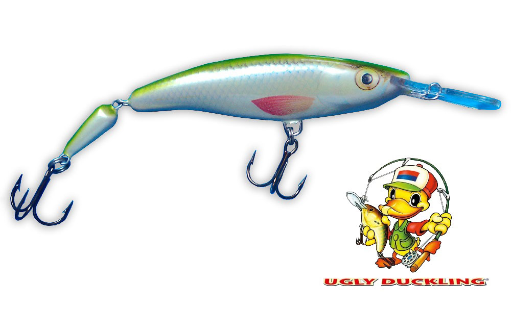 UGLY DUCKLING Wobler 9,5cm Jointed, SIL - Sinking