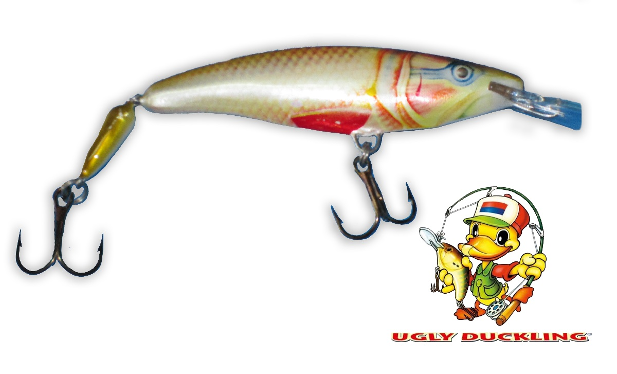 UGLY DUCKLING Wobler 9,5cm Jointed, DOR - Sinking