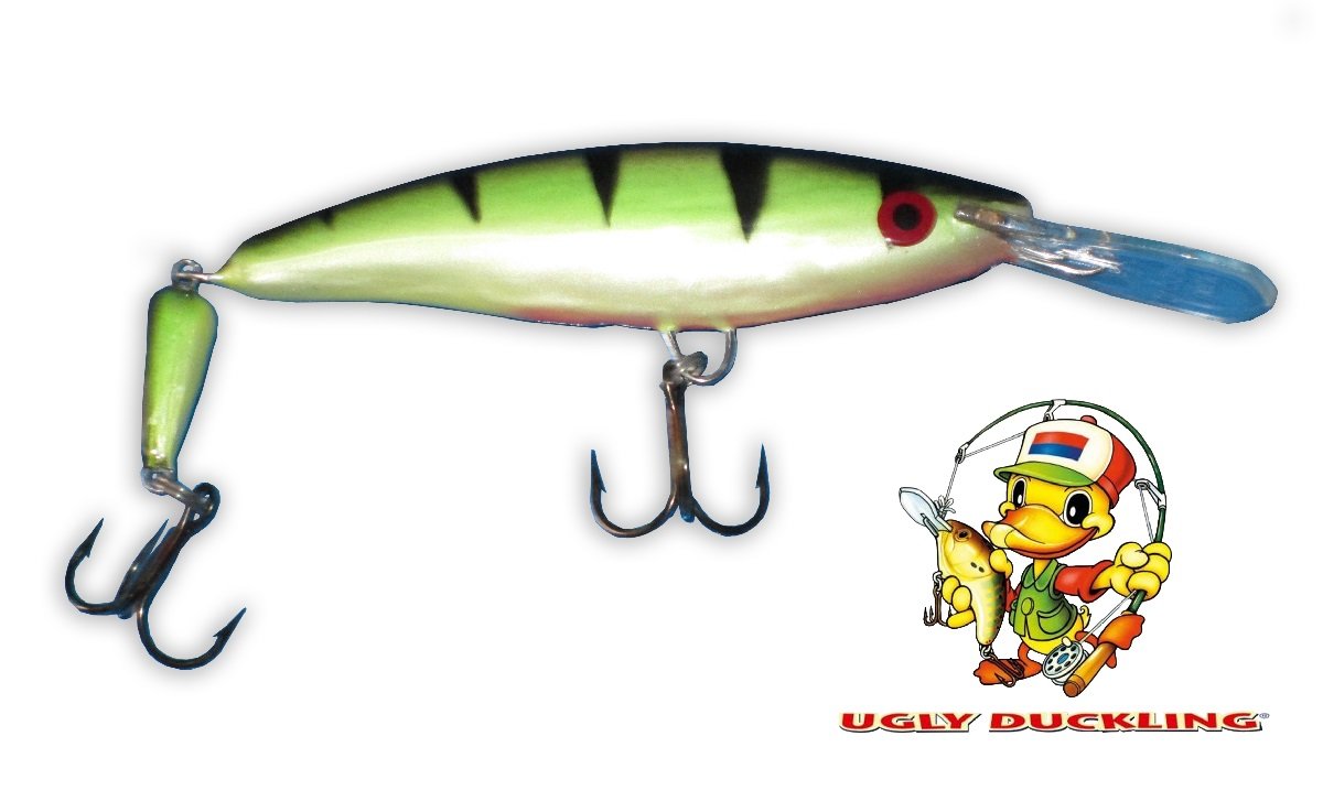 UGLY DUCKLING Wobler 9,5cm Jointed, PR - Sinking