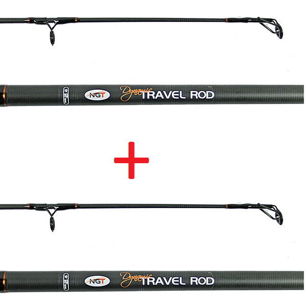 1+1 NGT Prut Dynamic Travel Carp 9ft, 4pc