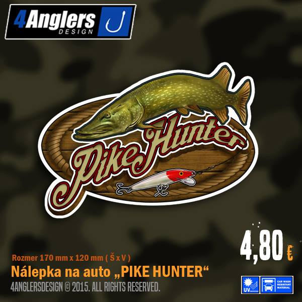 4-ANGLERS DESIGN Samolepka - Pike Hunter