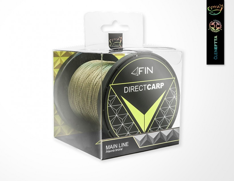 FIN Šňůra Direct Carp Main Line 0,20mm - zelená 600m
