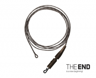DELPHIN Návazec THE END Lead core + swivel / 3ks