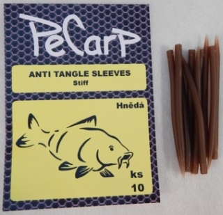 PeCarp Anti tangle Sleeves Tvrzené 10ks - Hnědá