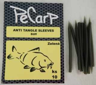 PeCarp Anti tangle Sleeves Tvrzené 10ks - Zelená